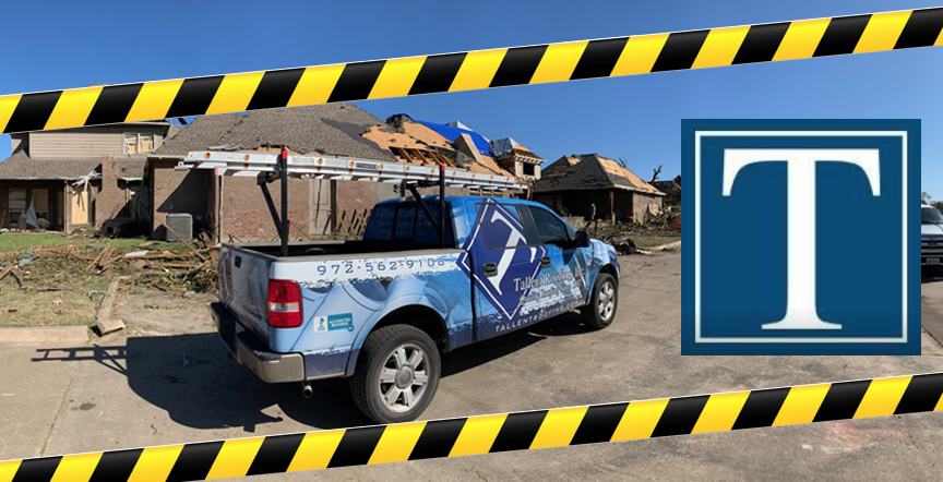 Dallas TX Tornado Clean up Tallent Roofing Inc October 2019